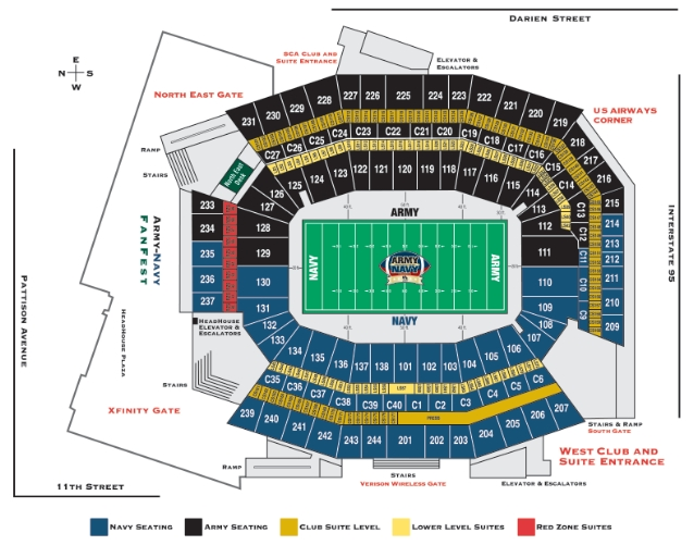 lincoln financial field seating diagram  lincoln  auto